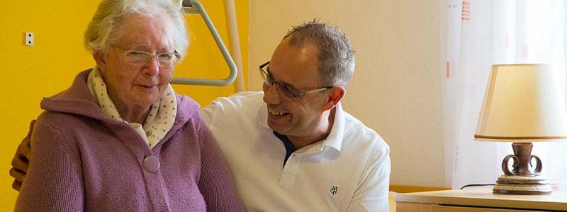 Karl-Heinz Gürtler bei der Pflege Ambulante Pflege bei Vital Pflegedienst